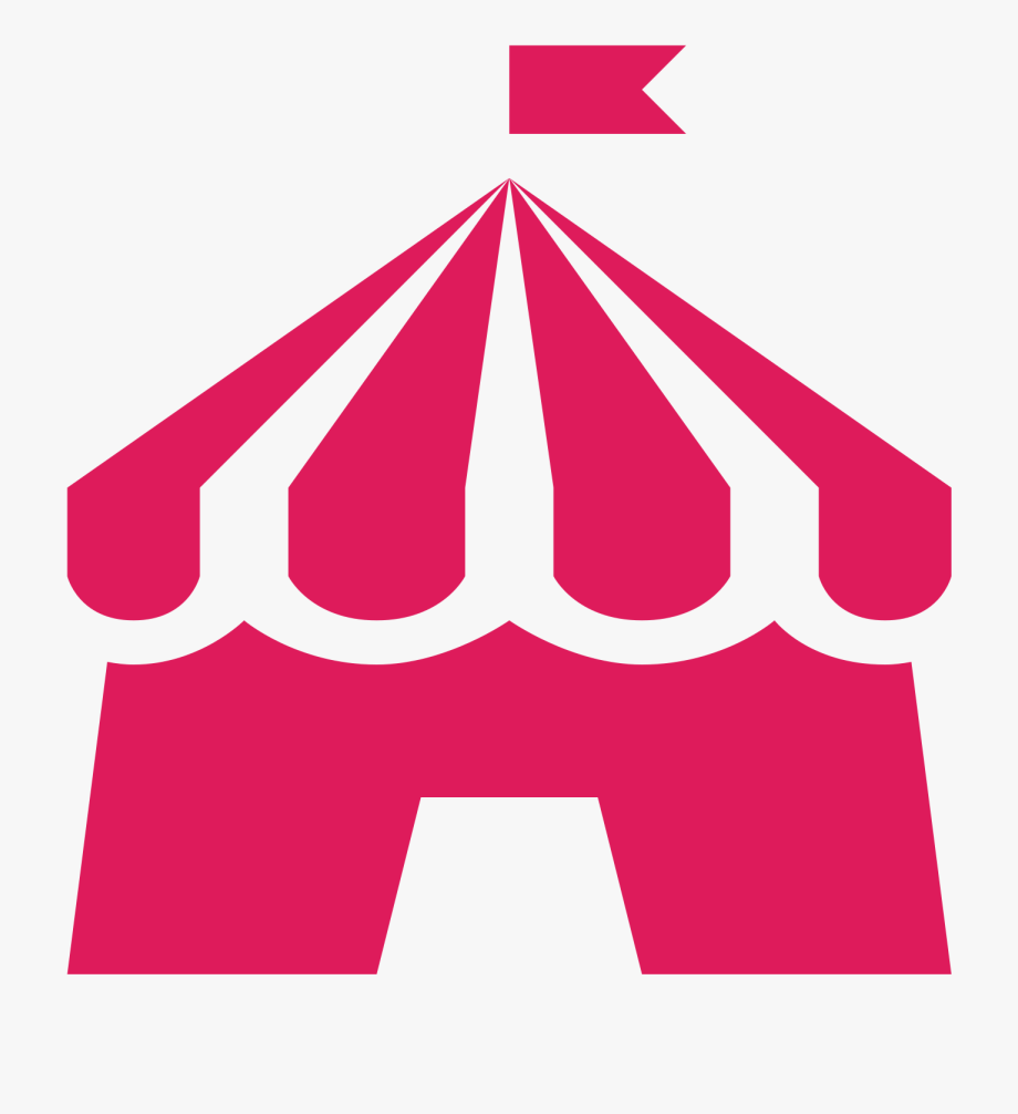 Circus Tent Clipart Black And White , Png Download.