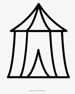 Free Tent Black And White Clip Art with No Background.