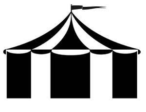 Circus Tent Clipart Black And White.