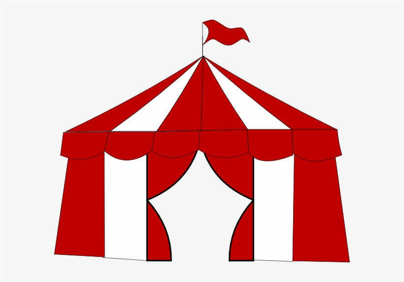 Red Circus Tent 2 Clip Art.