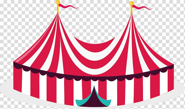 Red and white marquee tent, Circus Illustration, Circus tent.