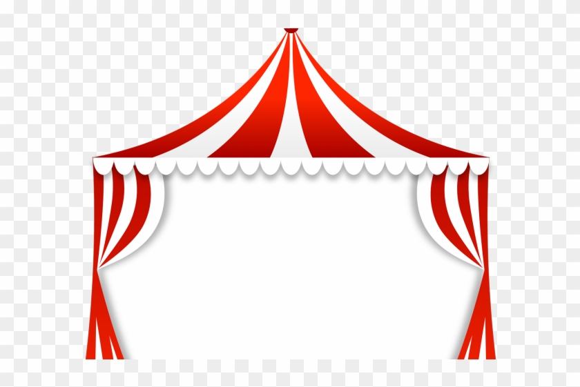 Drawn Curtain Circus Tent.