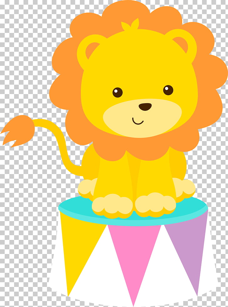 Circus Clown , carnival theme, lion on stool PNG clipart.