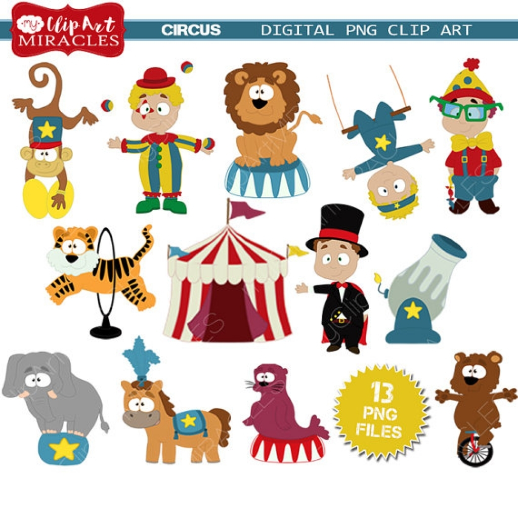 Circus Clipart Cute Circus Themed Clip Art Clown Clipart Inside.