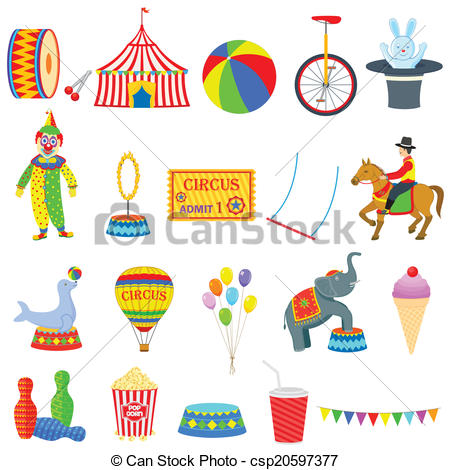Vectors Illustration of Circus Object.