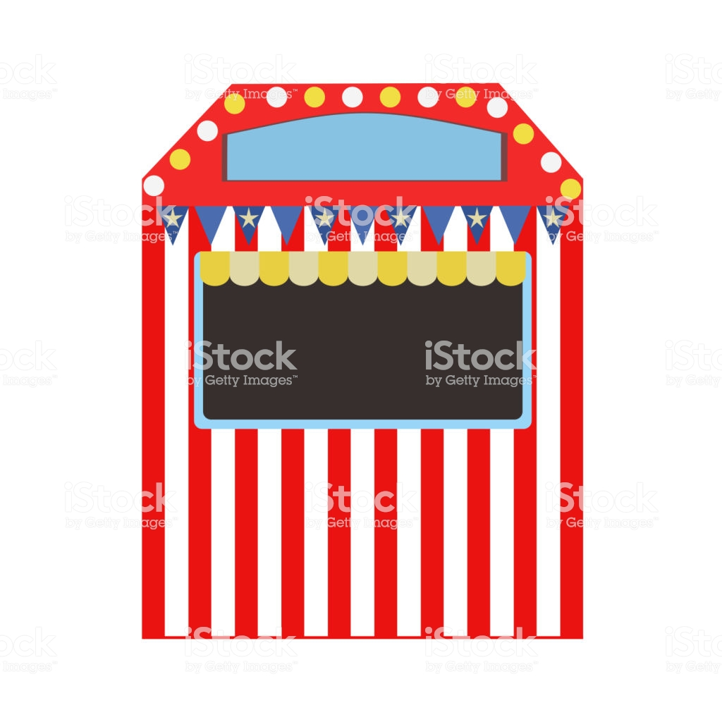 Circus Ticket Booth Stock Illustration.