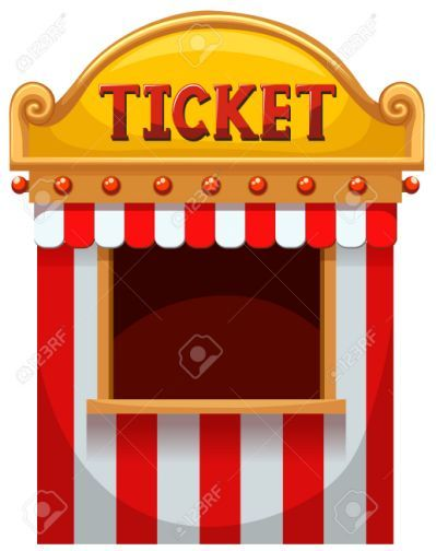 Carnival clipart ticket booth.