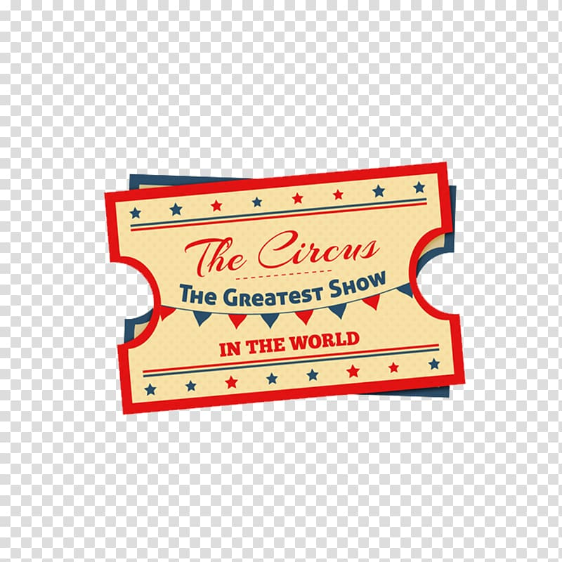 Ticket Circus, Retro Design Circus Tickets transparent background.