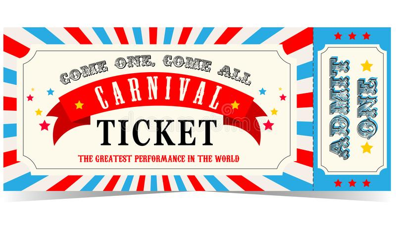 Circus Tickets Stock Illustrations.