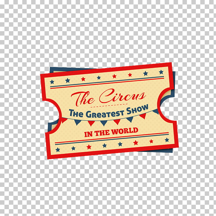 Ticket Circus, Retro Design Circus Tickets PNG clipart.