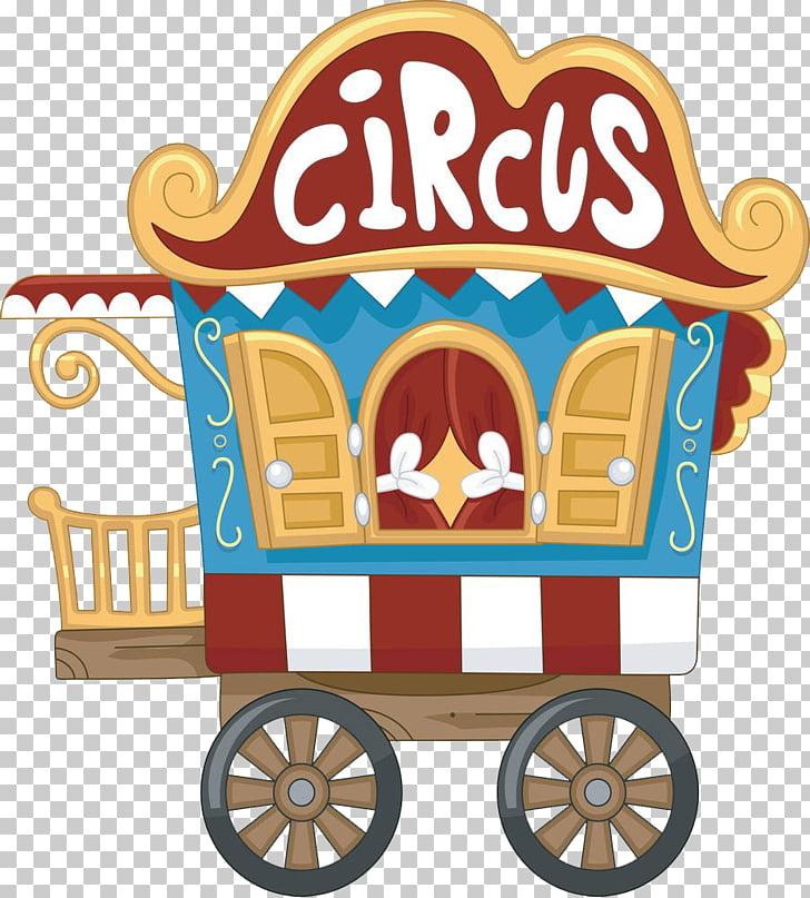 Circus train , Cartoon car PNG clipart.