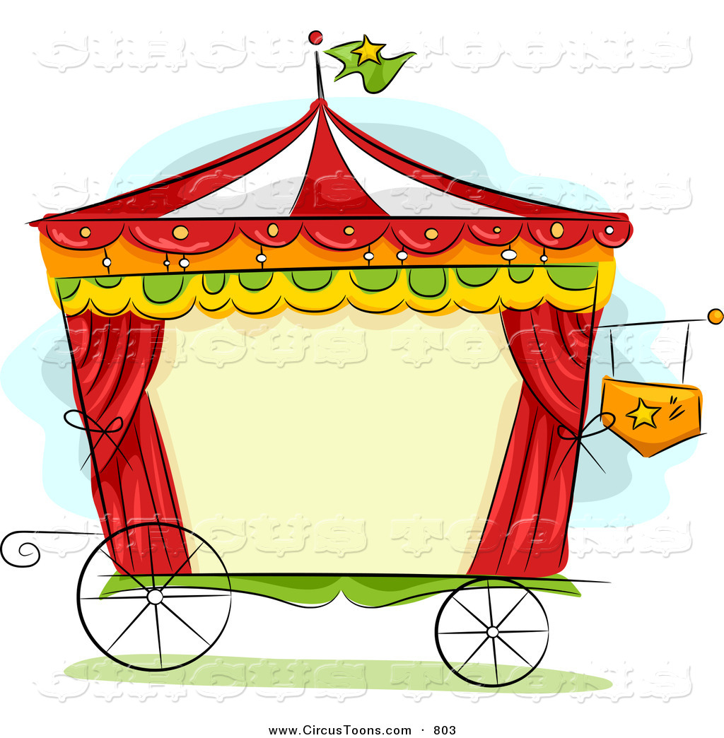 Circus Clipart of a Wagon Frame by BNP Design Studio.