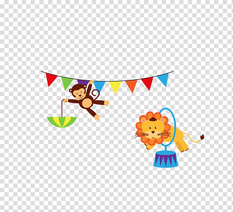 Circus , Circus Monkey Show transparent background PNG.