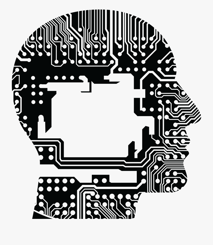 Free Clipart Of A Circuit Board Brain.