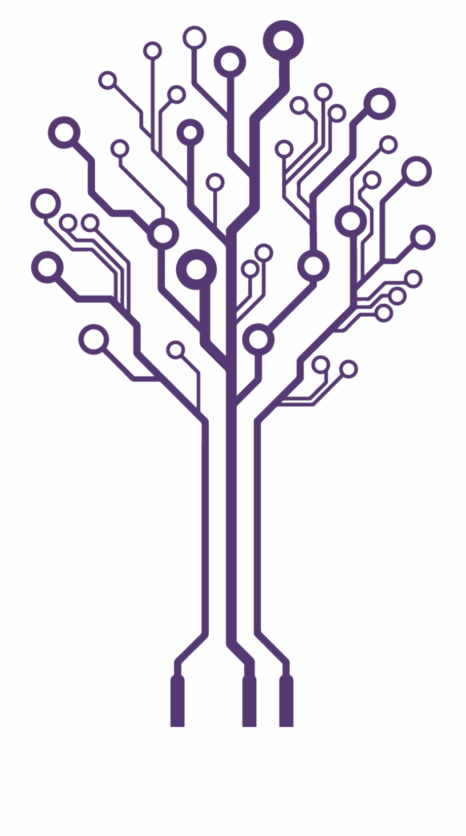 Circuit Tree Png Circuit Board Tree Vector.