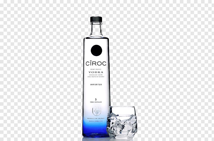Ciroc Vodka bottle, SKYY vodka Cîroc Bottle, Exquisite vodka.