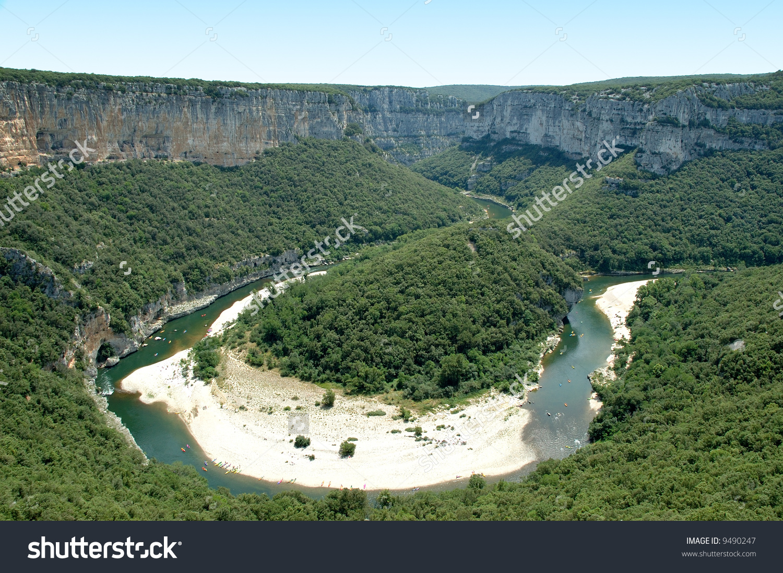 Isthmus Ardeche Gorges Picture Taken Taken Stock Photo 9490247.