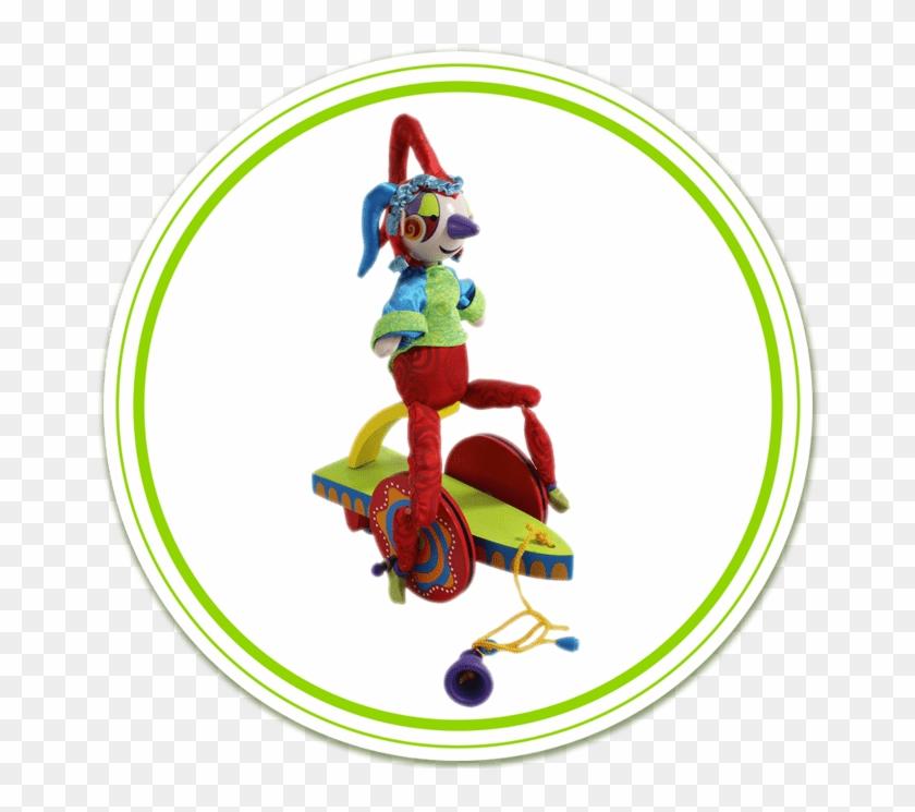 Cirque Du Soliel Wooden Toy Pull.