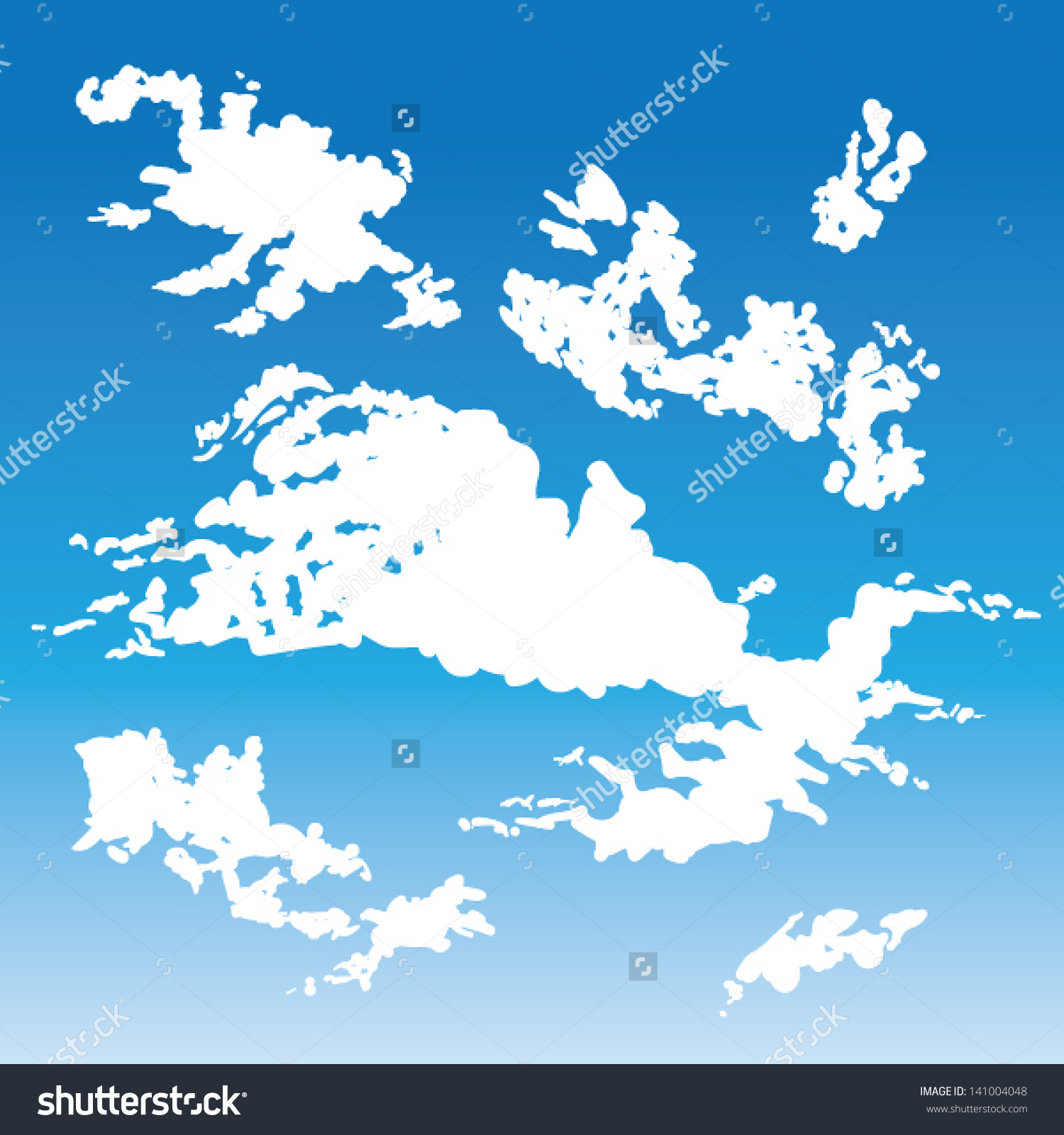 Clipart cirrus clouds.