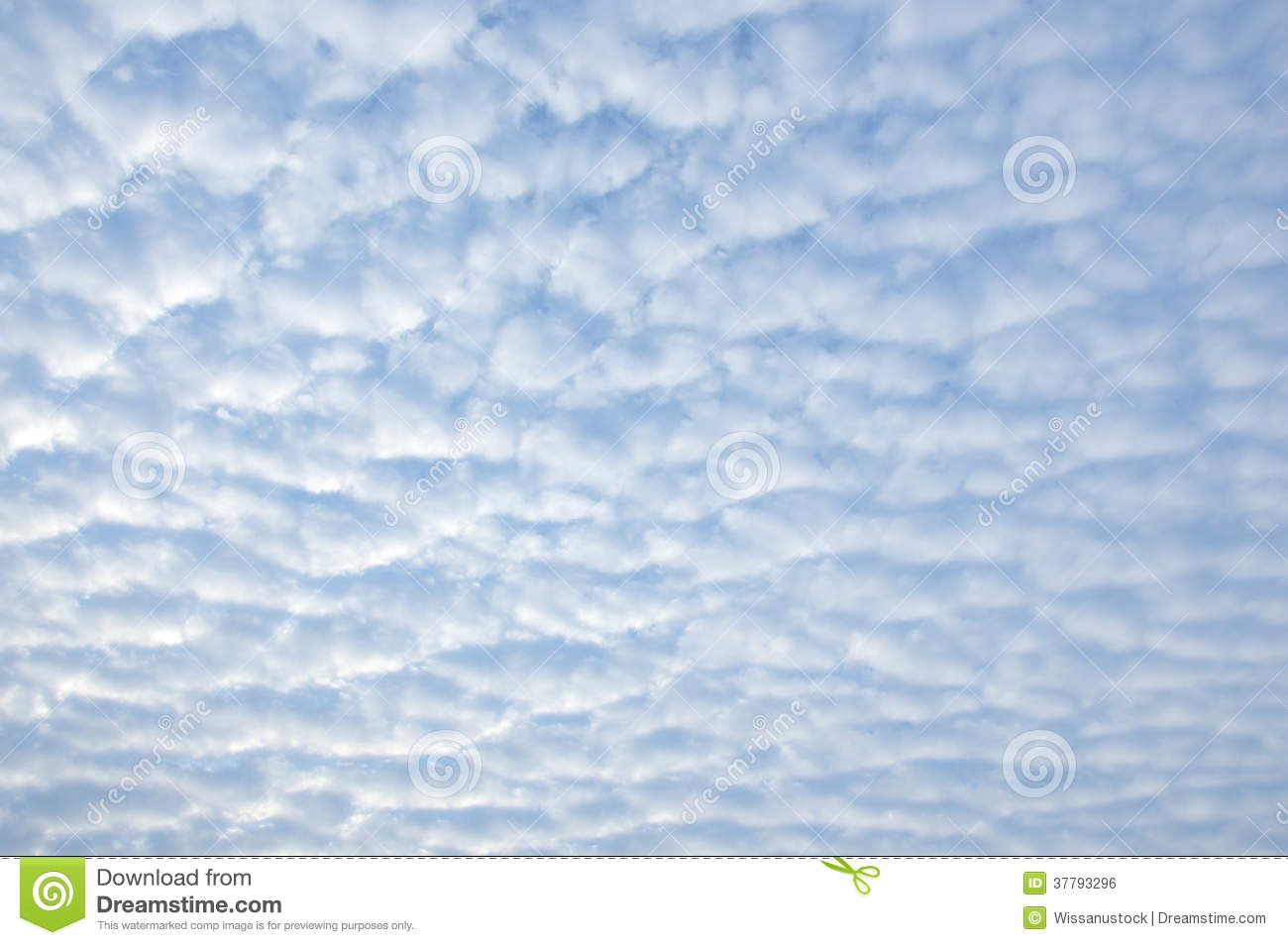 Small Fluffy Cirrocumulus Clouds Royalty Free Stock Image.