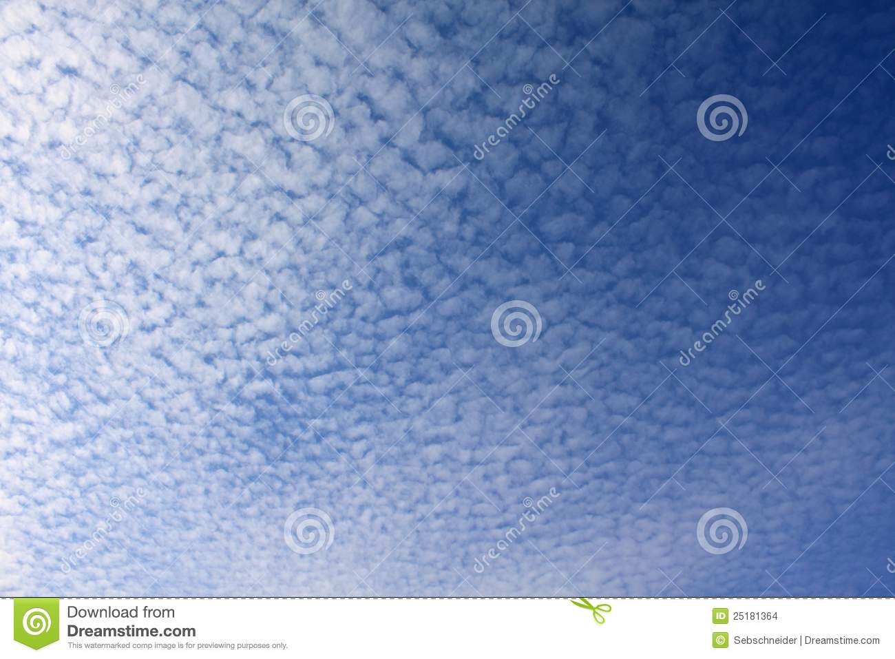 Cirrocumulus Clouds Stock Images.