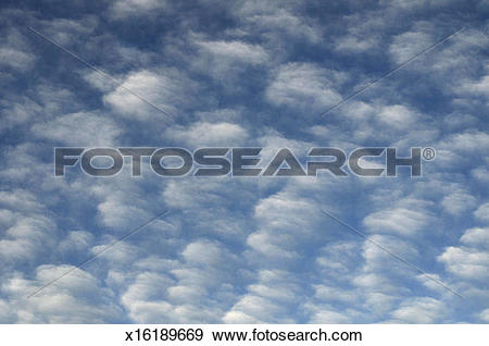 Stock Photograph of Cirrocumulus clouds x16189669.