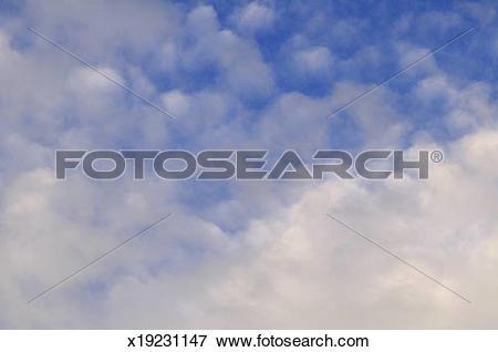 Picture of Cirrocumulus and altocumulus clouds x19231147.
