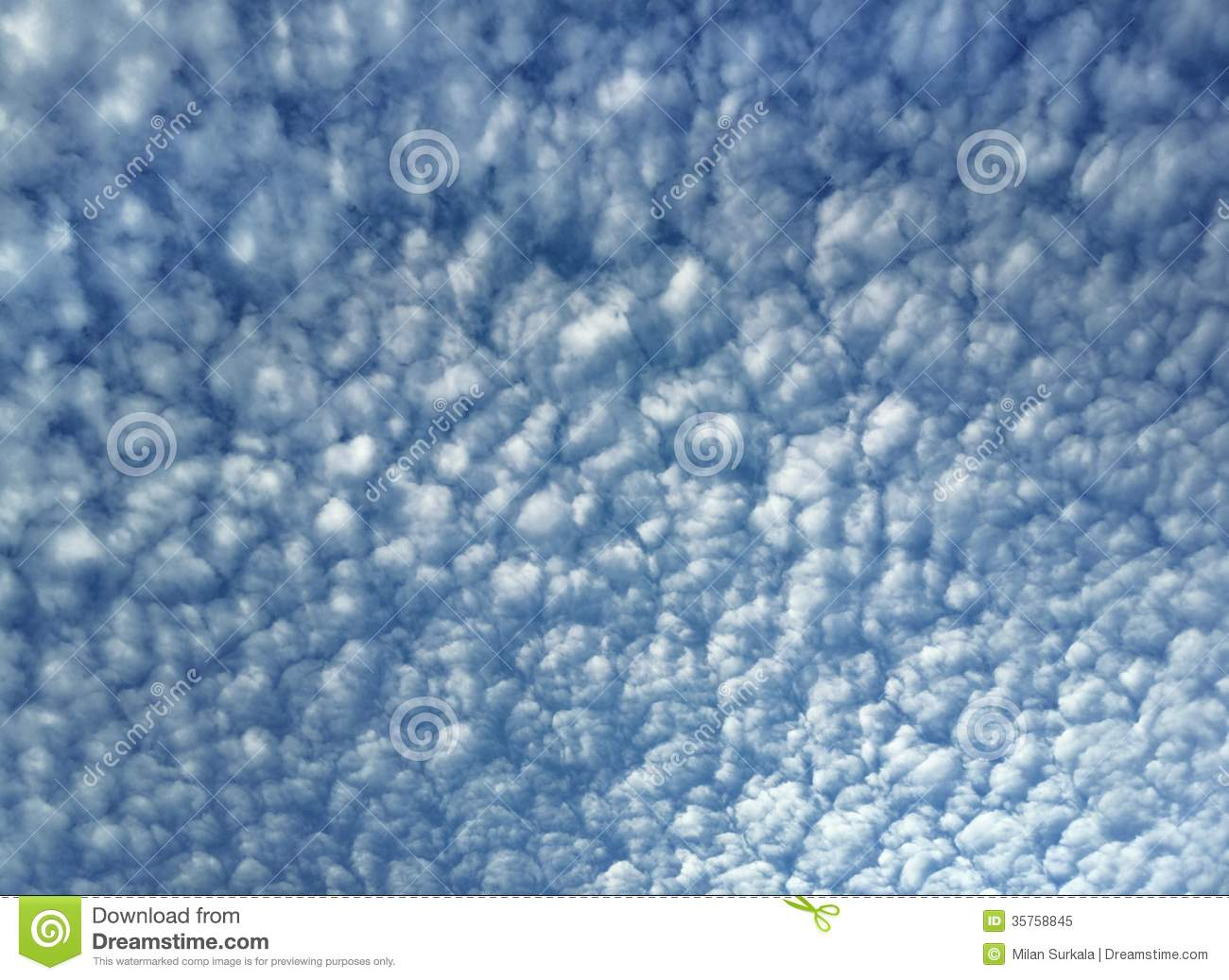 Cirrocumulus Clouds Royalty Free Stock Photo.