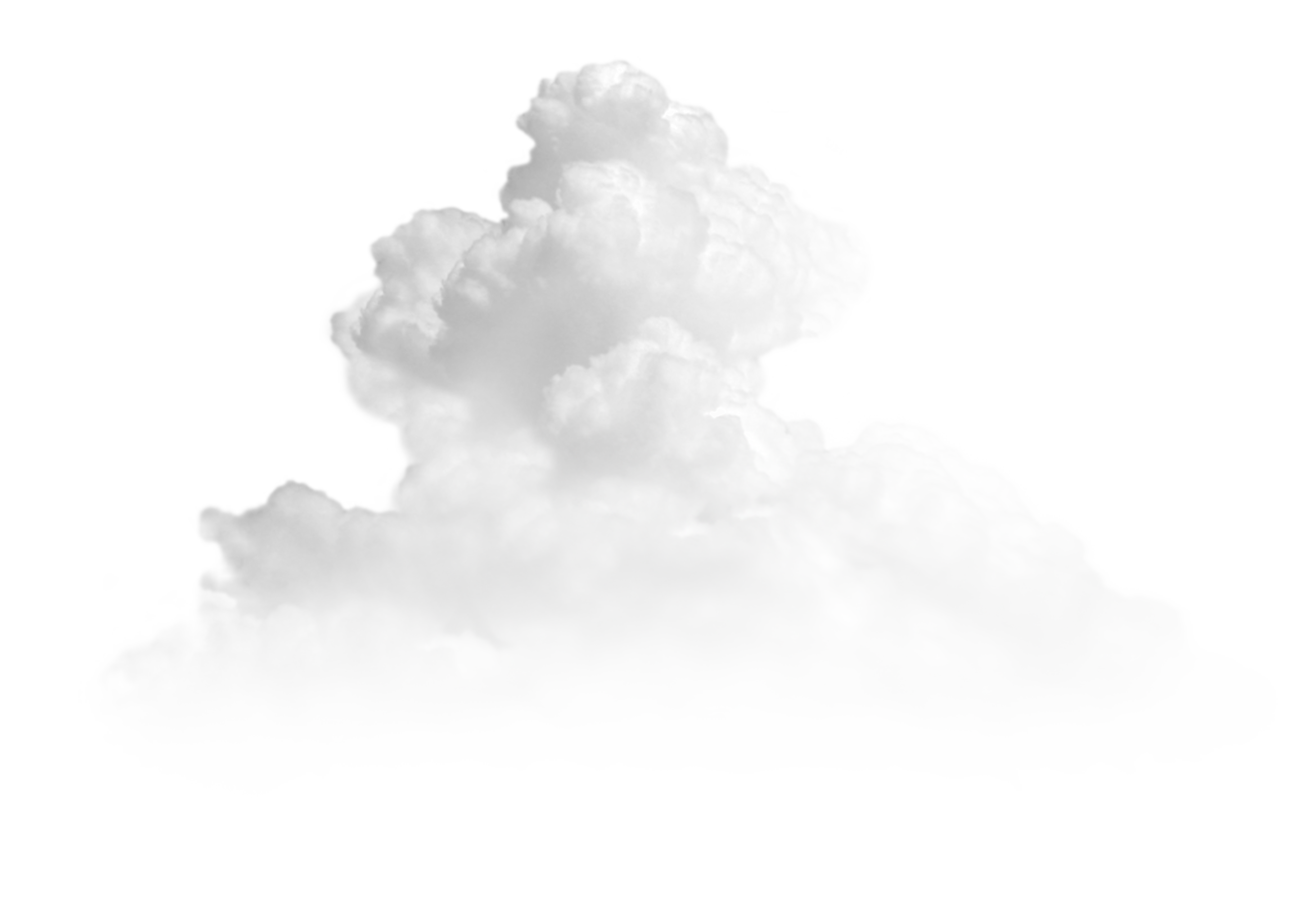 White Cumulonimbus Cloud PNG Clipart.