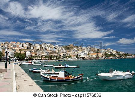Stock Foto's van stad, wolken, middellandse zee, baai, promenade.