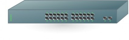 Cisco Fast Ethernet Switch clip art Clipart Graphic.
