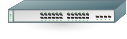 Cisco Network Switch clip art free vector.