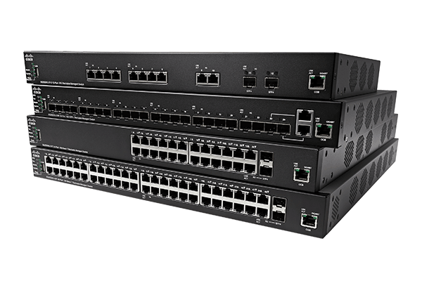 Cisco 350X Series Stackable Managed Switches.