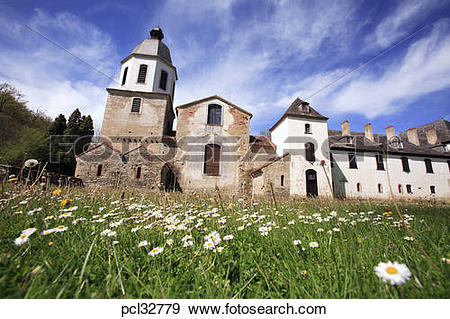 Stock Photograph of France Haute Pyrenees Bonnemazon Cistercian.