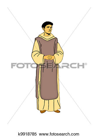 Stock Illustration of Cistercian monk. k9918785.