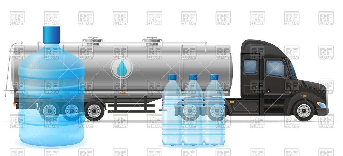 Cistern truck trailer.
