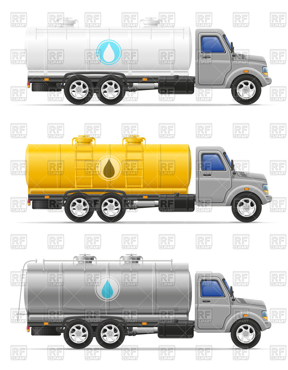 Cargo cistern truck for transporting liquids.