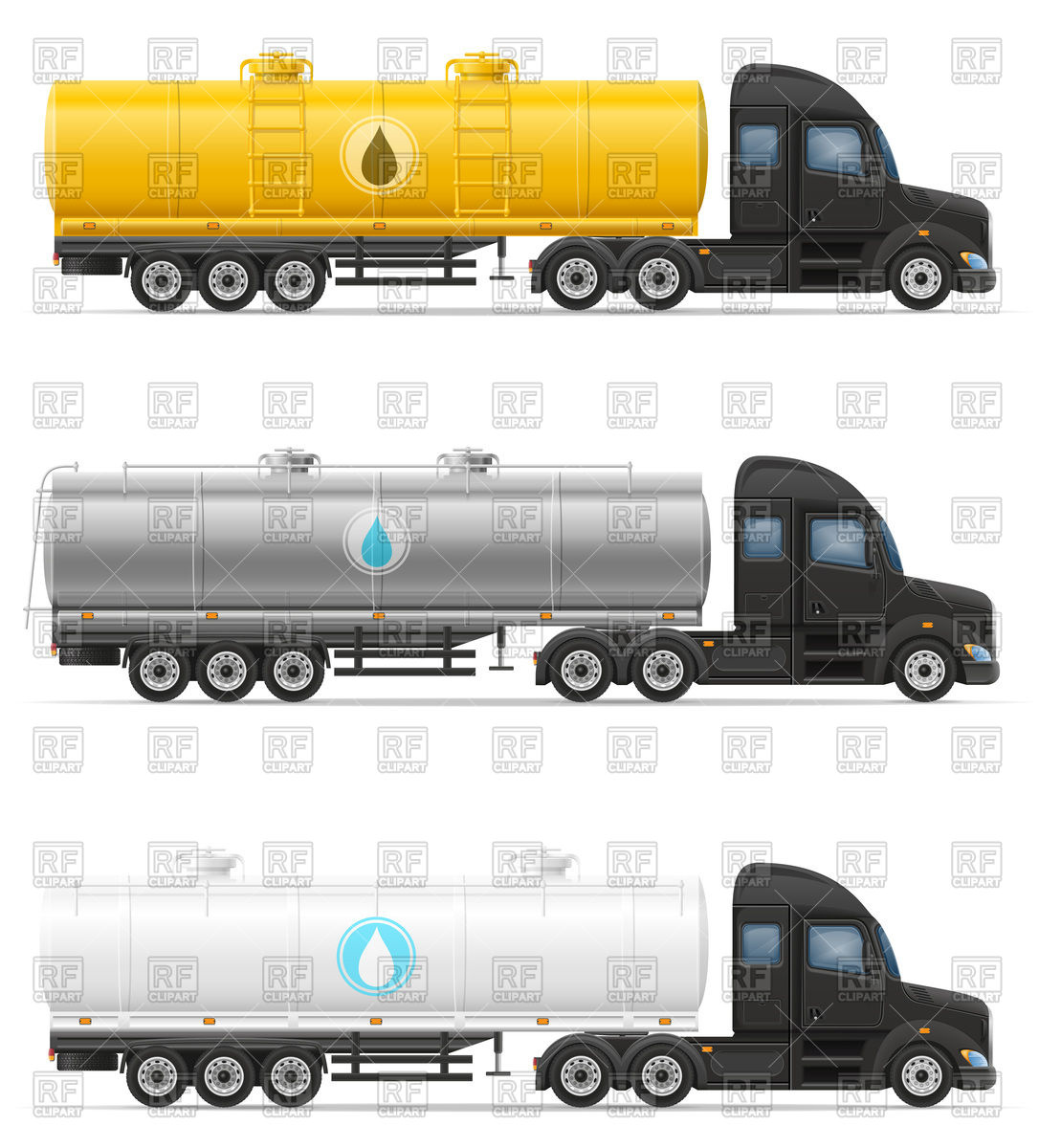Tank truck for liquid transportation (cistern truck) Vector Image.