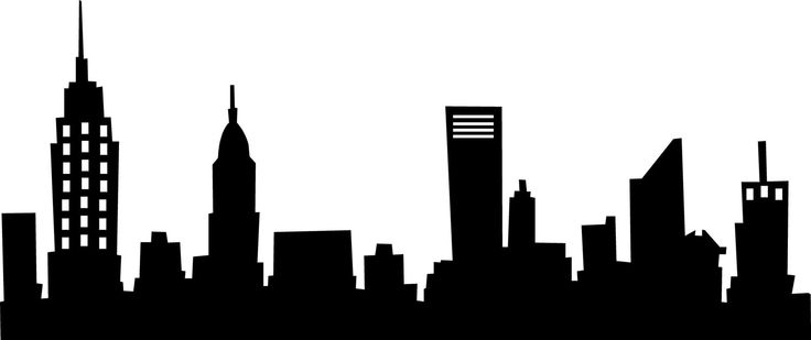 Clipart city skyline.