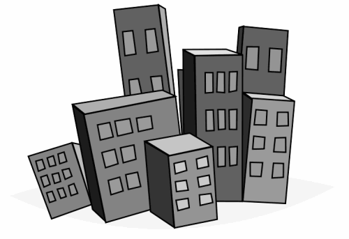City Buildings Clipart.
