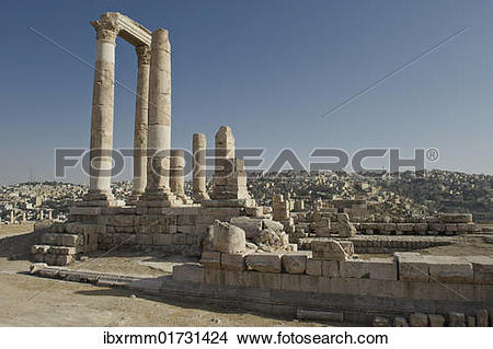 "Stock Photo of ""Hercules Temple on Citadel Hill in Amman, the."