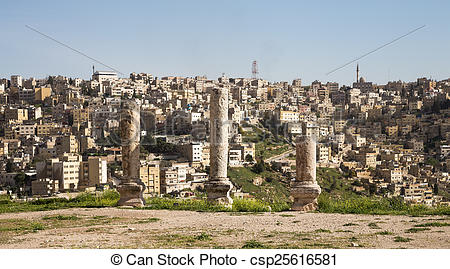 Pictures of Amman city landmarks.