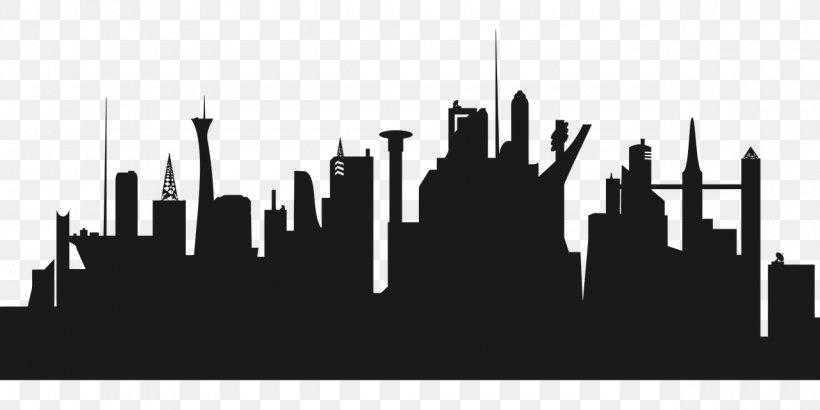 Clip Art Cities: Skylines Image Vector Graphics Illustration.
