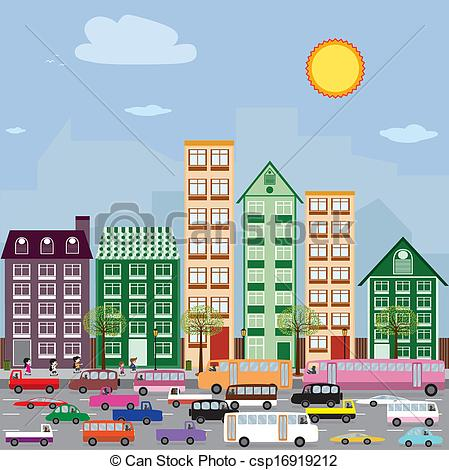 Community City Clip Art.
