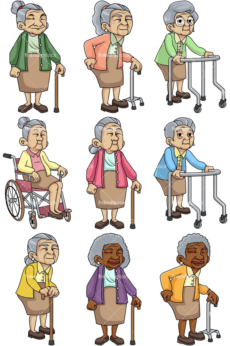Weak Female Senior Citizens Collection.