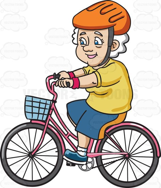 A Female Senior Citizen Looking Sporty While In A Bike.