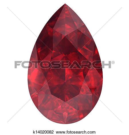 Clip Art of ruby ,Citrine k14020082.