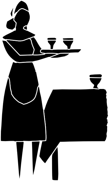 Restaurant Server Clipart.