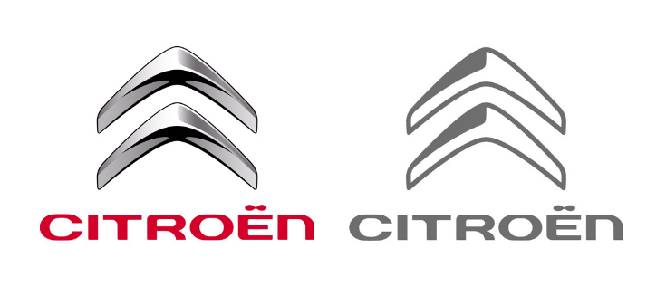 Citroën's new flat logo: inspired by you.