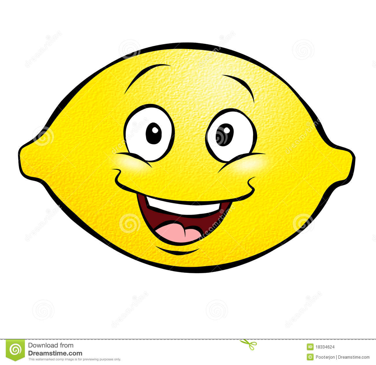 Smiling Lemon Clipart.